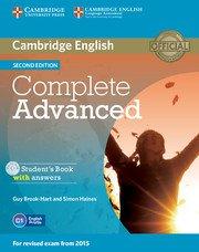 Complete Advanced Second Edition Student's Book with ans. + CD-ROM- Учебник по английски език за сертификатния изпит CAE