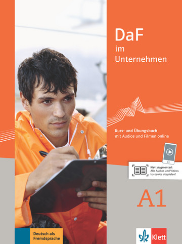 Учебник по немски език DaF im Unternehmen A1 Kurs- und Übungsbuch mit Audios und Filmen online