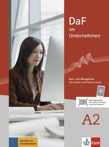 Учебник по немски език DaF im Unternehmen A2 Kurs- und Übungsbuch mit Audios und Filmen online