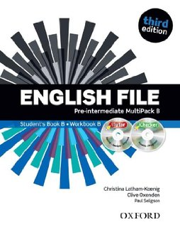 English File third edition Pre-intermediate MultiPACK B with iTutor and iChecker .Учебник и тетрадка по английски език 6-10 урок.