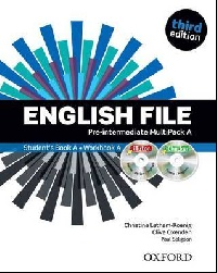 English File third edition Pre-intermediate MultiPACK A with iTutor and iChecker.Учебник и тетрадка по английски език 1- 6 урок.