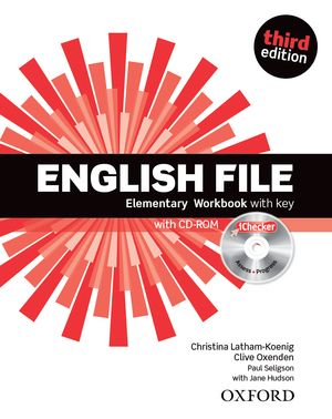Учебна тетрадка по английски език: English File Elementary Workbook with key and iChecker Third Edition