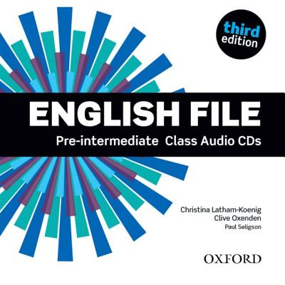 Аудио дискове English File Pre-intermediate Class Audio CDs Third Edition