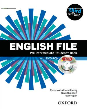 Учебник по английски език: English File Pre-intermediate (3rd Edition) Student\'s Book with iTutor DVD-ROM