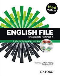 English File third edition Intermediate MultiPACK A with iTutor and iChecker.Учебник и тетрадка по английски език 1- 5 урок.