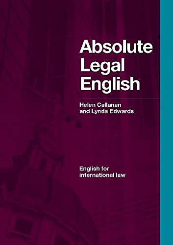 ABSOLUTE LEGAL ENGLISH Book+CD