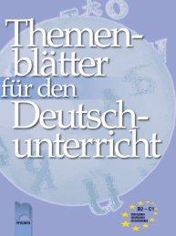 Themenblätter für den Deutschunterricht. Учебно помагало по немски език за напреднали нива В2 и С1