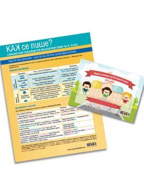 Как се пише? Справочни таблици по български език за 5. клас + видео клипове към всички уроци (по новата програма)