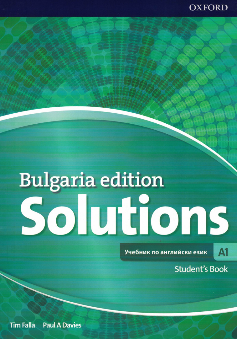 Solutions 3E Bulgaria Edition A1 Student's book
