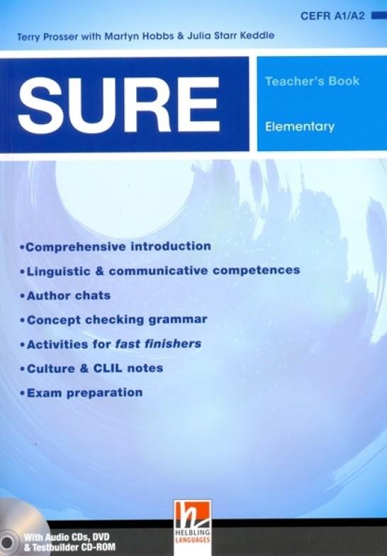 SURE Elementary Teacher's Book + 3 Audio CDs + Testbuilder CD-ROM + DVD + e-zone