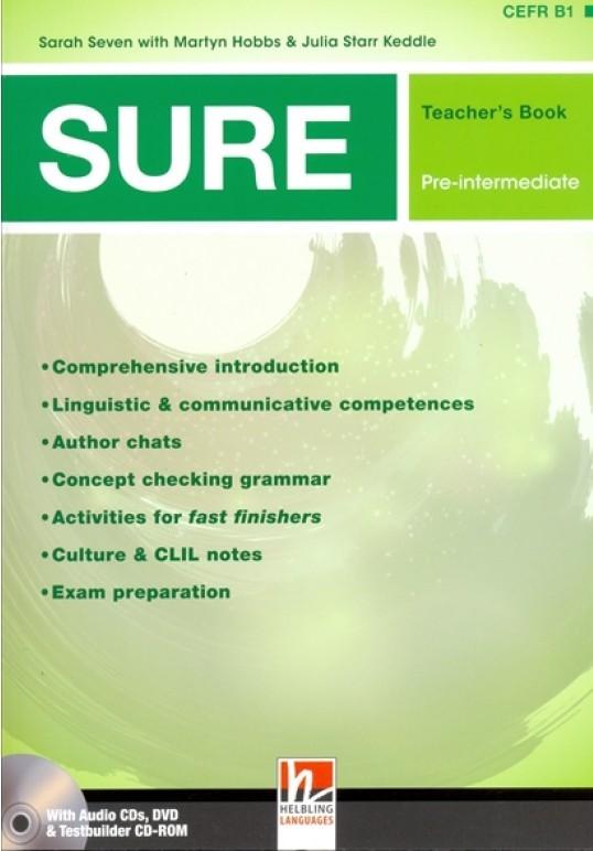SURE Pre-Intermediate Teacher's Book + 3 Audio CDs + Testbuilder CD-ROM + DVD + e-zone