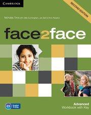 face2face: Учебна система по английски език - Second edition Advanced Workbook with Key. Учебна тетрадка с отговори.