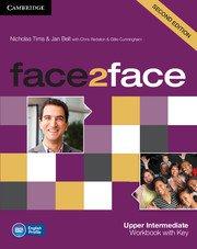 face2face: Учебна система по английски език - Second edition Upper-intermediate Workbook with Key.Учебна тетрадка с отговори.