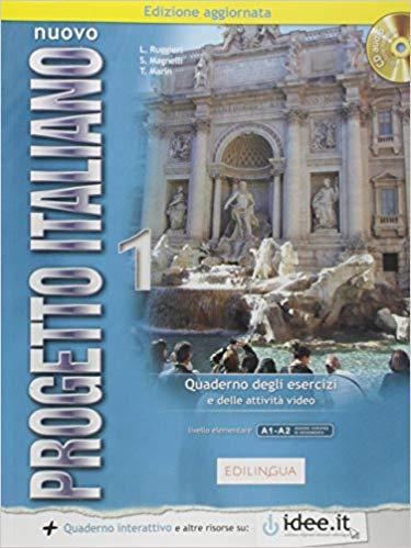 Учебна тетрадка по италиански език: Nuovo Progetto italiano 1, ниво A1 и A2 + CD