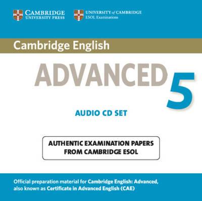 Cambridge Certificate in Advanced English (NEW edition for revised exam 2015) - CAE 5 Audio CDs (2) - Аудио дискове към Книга 5 с Практически тестове за сертификат по английски език Advanced
