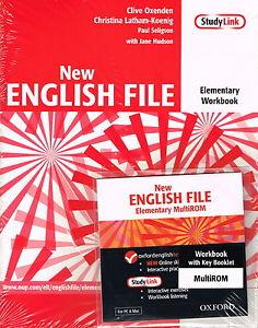 NEW ENGLISH FILE ELEMENTARY WORKBOOK + KEY + MULTIROM A1<br>УЧЕБНА ТЕТРАДКА ПО АНГЛИЙСКИ ЕЗИК