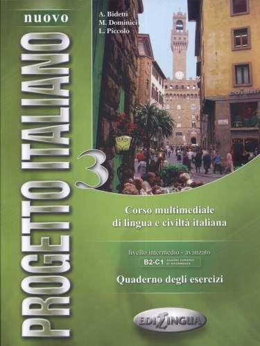 Учебна тетрадка по италиански език: Nuovo Progetto italiano 3, ниво B2 и C1 + CD