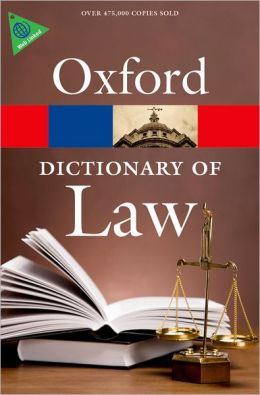 Oxford Dictionary of Law - Оксфордски английски речник по право