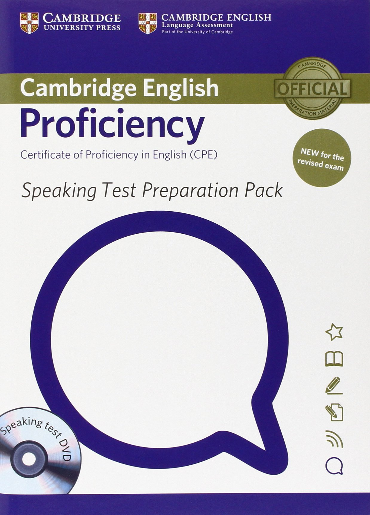 Speaking Test Preparation Pack for Proficiency - Book with DVD - Книга с DVD за подготовка за елемента