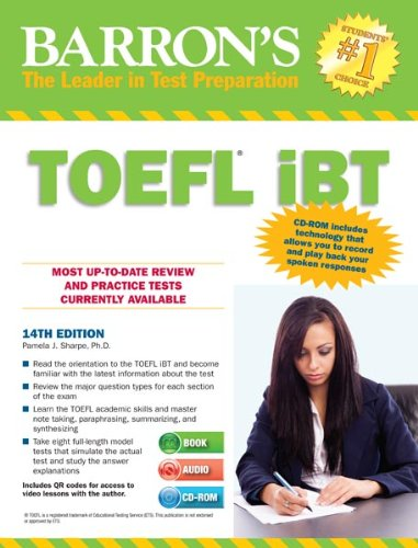 Barron's TOEFL iBT with Audio CDs and CD-ROM, 14th Edition - Подготовка за сертификат TOEFL-iBT