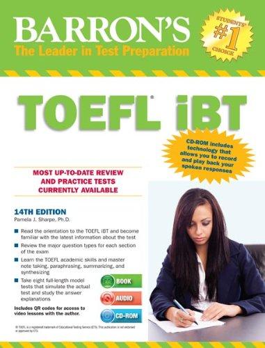Barron's TOEFL iBT with Audio CDs and CD-ROM, 14th Edition - Подготовка за сертификат TOEFL-iBT