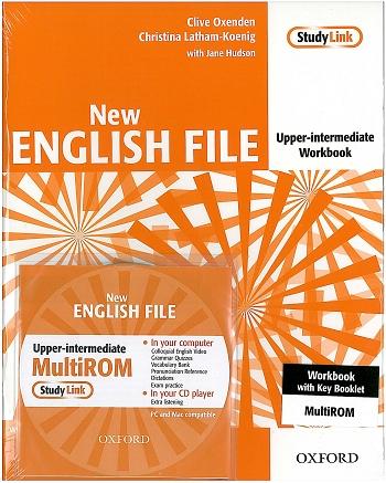 NEW ENGLISH FILE UPPER-INTERMEDIATE WORKBOOK + KEY + MULTIROM (B2)<br>УЧЕБНА ТЕТРАДКА ПО АНГЛИЙСКИ ЕЗИК