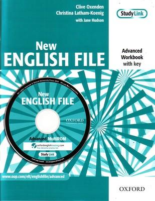 NEW ENGLISH FILE ADVANCED WORKBOOK + KEY + MULTIROM (C1)<br>УЧЕБНА ТЕТРАДКА ПО АНГЛИЙСКИ ЕЗИК