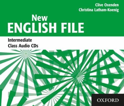 NEW ENGLISH FILE INTERMEDIATE CLASS AUDIO CDs (3) B1<br>АУДИО АНГЛИЙСКИ ЕЗИК