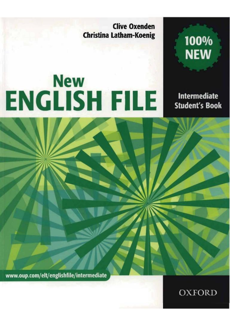 NEW ENGLISH FILE INTERMEDIATE STUDENT'S BOOK B1<br>УЧЕБНИК ПО АНГЛИЙСКИ ЕЗИК
