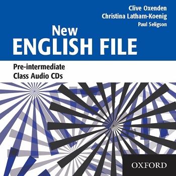 NEW ENGLISH FILE PRE-INTERMEDIATE CLASS AUDIO CDs (3) A2<br>АУДИО АНГЛИЙСКИ ЕЗИК