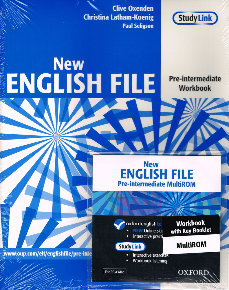 NEW ENGLISH FILE PRE-INTERMEDIATE WORKBOOK + KEY + MULTIROM A2<br>УЧЕБНА ТЕТРАДКА ПО АНГЛИЙСКИ ЕЗИК