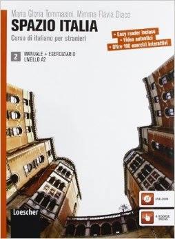 Spazio Italia 2. Manuale +Eserciziario Livello A2.Учебник и учебна тетрадка по италиански език ниво А2.