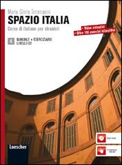 Spazio Italia 4 . Manuale +Eserciziario Livello B2.Учебник и учебна тетрадка по италиански език ниво B2.